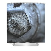 Silver Bolt Shower Curtain