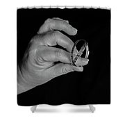 Silver Bracelets Shower Curtain