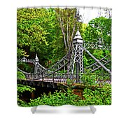 Silver Bridge 004 Shower Curtain