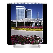 Silver Bullet Building Shower Curtain