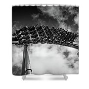 Silver Bullet Roll Shower Curtain