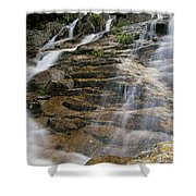 Silver Cascades - Crawford Notch New Hampshire Shower Curtain