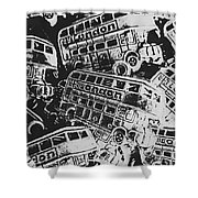 Silver City Shower Curtain