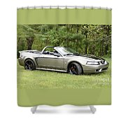 Silver Cobra Shower Curtain