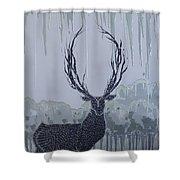 Silver Deer Shower Curtain