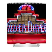 Silver Diner Shower Curtain