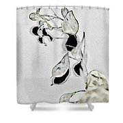 Silver Dollar Abstract Shower Curtain