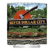 Silver Dollar City Sign Shower Curtain