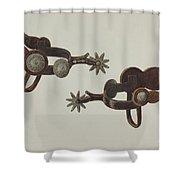 Silver Dollar Spurs Shower Curtain