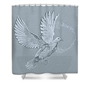 Silver Dove Shower Curtain