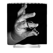 Silver Dummy Shower Curtain