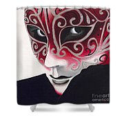Silver Flair Mask Shower Curtain