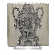 Silver Hot Water Urn Shower Curtain