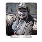 Silver Lady Shower Curtain