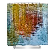 Silver Lake Autumn Reflections Shower Curtain