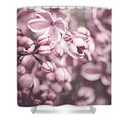 Silver Lilacs Shower Curtain