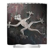Silver Lizard Shower Curtain