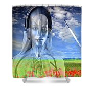 Silver Machine Shower Curtain