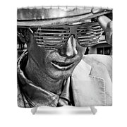 Silver Man Mime Shower Curtain
