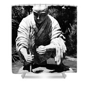 Silver-monk Shower Curtain