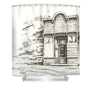 Silver Plume Ghost Town Colorado Shower Curtain