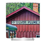 Silver Plume Station Shower Curtain