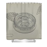Silver Porringer Shower Curtain