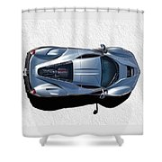 Silver Side Up Shower Curtain