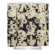 Silver Skull Art Shower Curtain