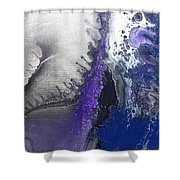 Silver Spill Shower Curtain
