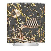 Silver Sports Shower Curtain