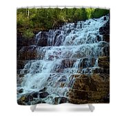 Silver Staircase Shower Curtain
