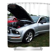 Silver Stang Shower Curtain