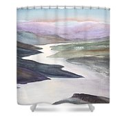 Silver Stream Shower Curtain