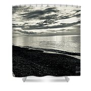 Silver Sunset Shower Curtain