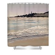 Silver Surf Shower Curtain