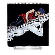 Silver Surfer Shower Curtain