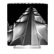 Silver Triangle Shower Curtain
