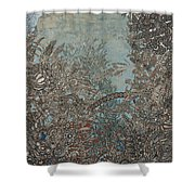 Silver Twilights Shower Curtain