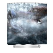 Silver Wolf Shower Curtain