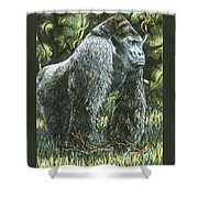 Silverback-king Of The Mountain Mist Shower Curtain