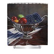 Silvered Fruit Shower Curtain