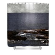 Silvered Sea Shower Curtain