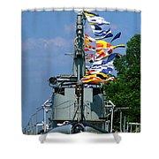 Silversides Flags Shower Curtain
