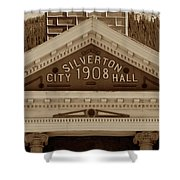 Silverton City Hall 1908 Shower Curtain