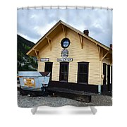 Silverton Train Depot Shower Curtain