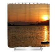 Silverwood Sunrise Shower Curtain