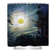 Silvery Moon Glow Shower Curtain