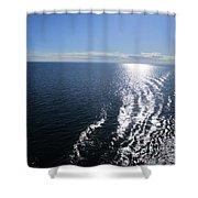 Silvery Ocean Shower Curtain