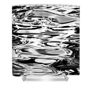 Silvery Water Ripples Shower Curtain